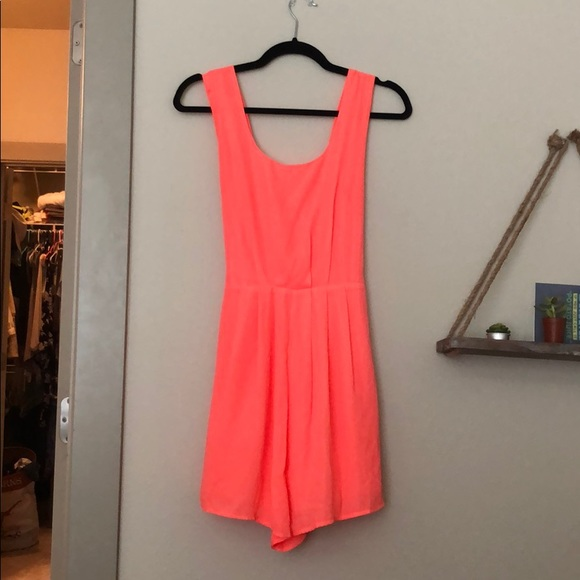 Altar'd State Other - Bright Pink romper